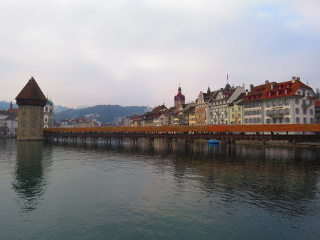 Chapel Bridge, Lucerne - Switzerland Stockfoto