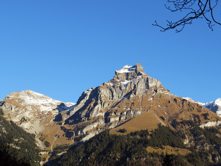Hahnen mountain view from Engelberg, Switzerland
