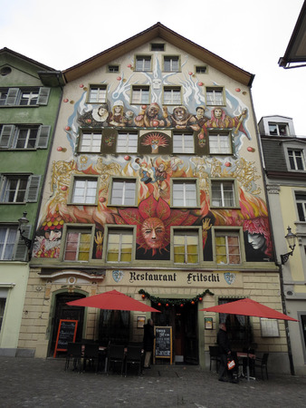 Buildings and streets, Lucerne - Switzerland