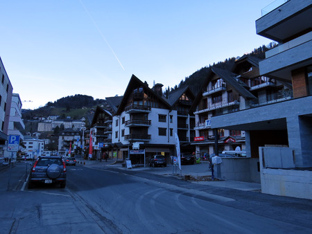 Engelberg street, Switzerland Editorial