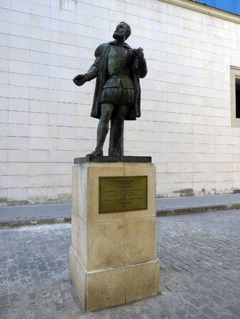 Statue of Luis Vaz de Camoes, portuguese poet, Havana - Cuba Editöryel