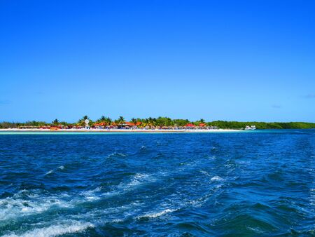 View from boat of Cayo Blanco Island, Varadero - Cuba