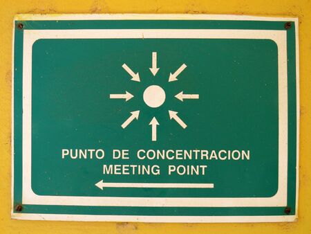 Meeting point sign, Cuba