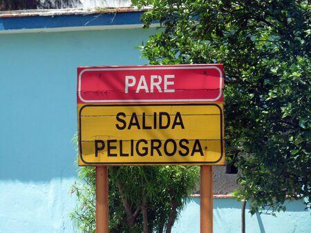 Street stop sign, Cuba