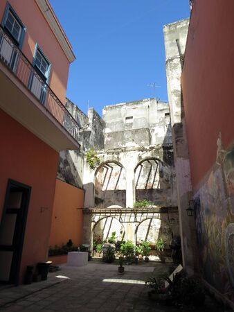Courtyard view of Benito Juarez, Havana