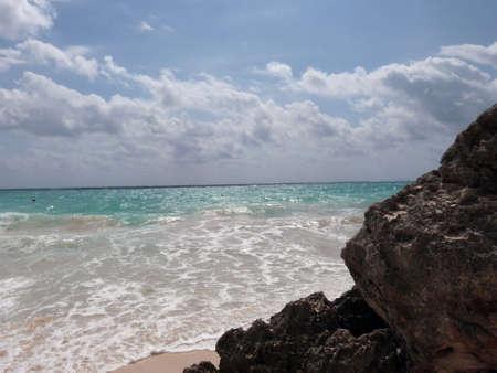 Beach at Tulum ancient city - Mexico