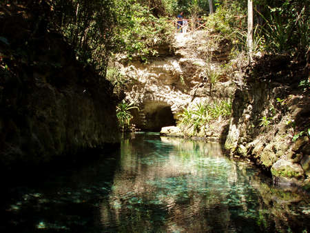 Water path at Xcaret - Mexico