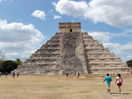 Temple of Kukulcan, Chichen Itza - Mexico Editorial