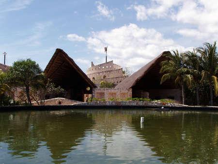 View of Xcaret park, Yucatan - Mexico Editorial