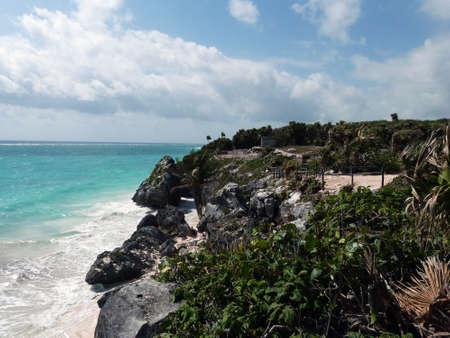 Beach of Tulum city - Mexico