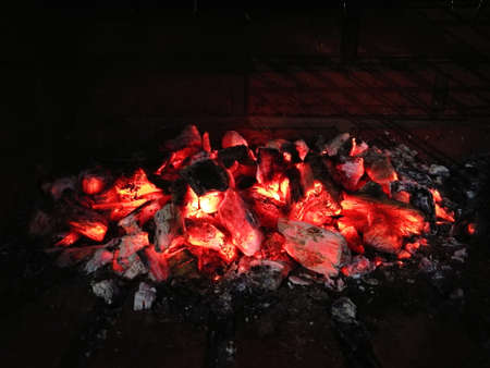 Hot coal Stock Photo