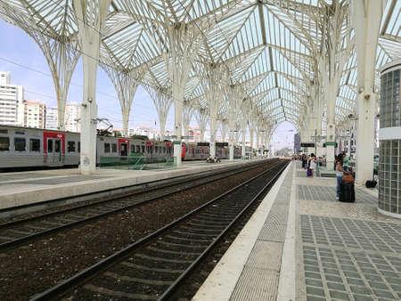 Railroad station Oriente, Lisbon - Portugal Editorial