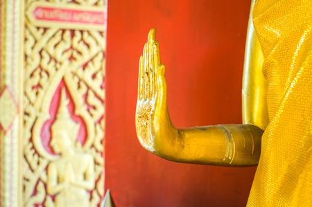 buddha hand: Buddha hand statue Stock Photo