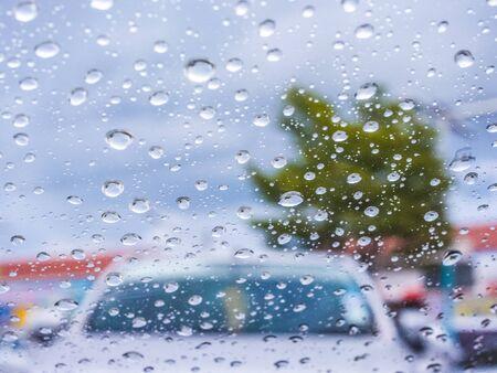 kropla deszczu: Raindrop abstract blur for background