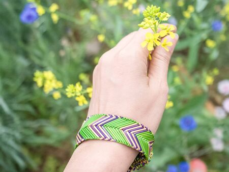 raffia: Raffia Bracelet on hand