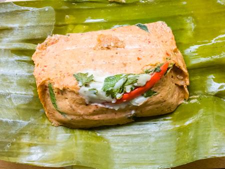 gourmet food: Al vapor pescado al curry en hojas de pl�tano