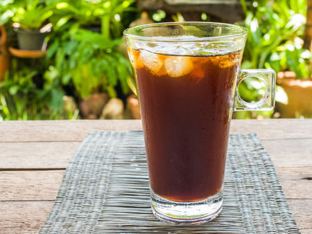 americano: Ice americano coffee