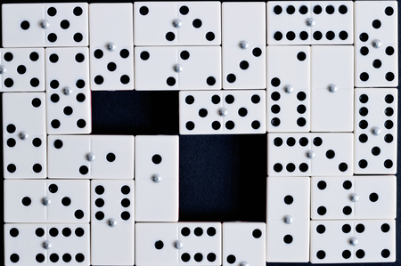 Domino photo for your leisure projects or board games publications.  Stock Photo