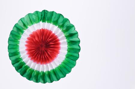 Tricolor paper ornament