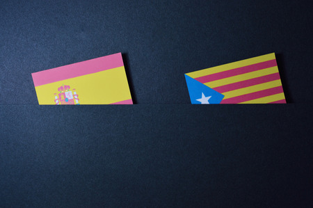 Spain flags template for your politics projects or economy publications.