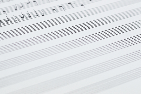 Music sheet photo for your arts projects or music publications. Stock Photo