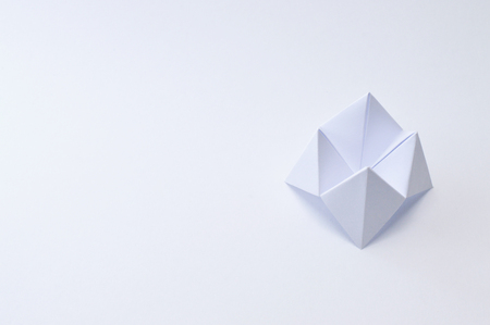 Origami figure paper in white background Stock Photo