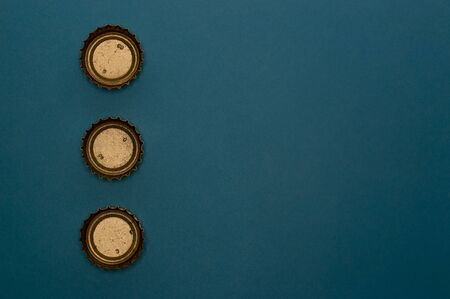 Template of metallic bottle cap for beverage industry projects or food and drink topics.