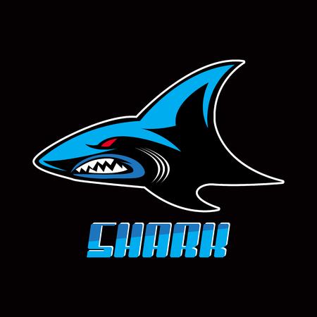 shark vector image Vettoriali