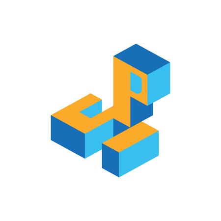 lettre S et P isométrique