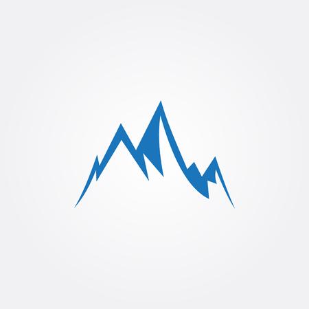 blue mountain vector image