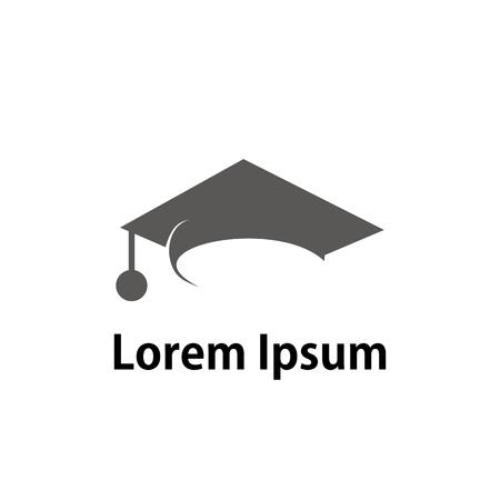 sombrero de graduación logo de la universidad Logos