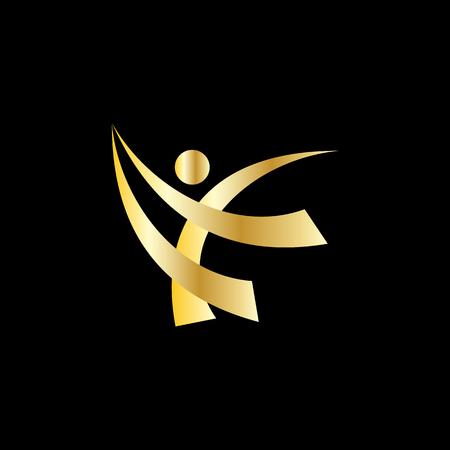 happy people sport logo Ilustração