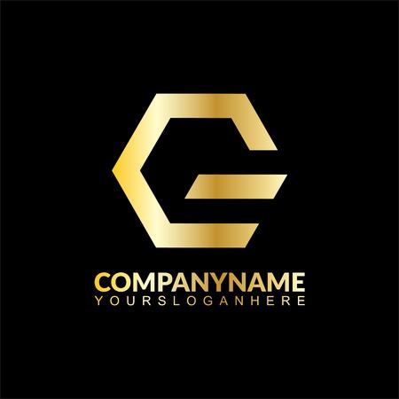 gold letter G business logo Vettoriali