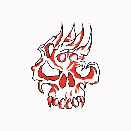 head skull vector design Illustration