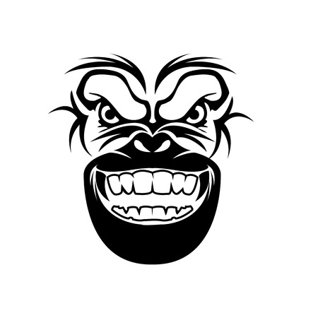 gorilla head vector for sport business logo