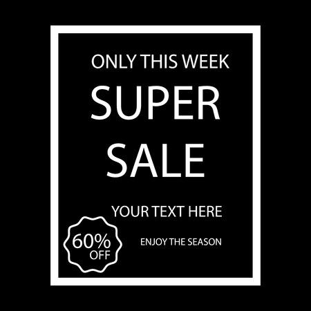 big sale vector design on black background