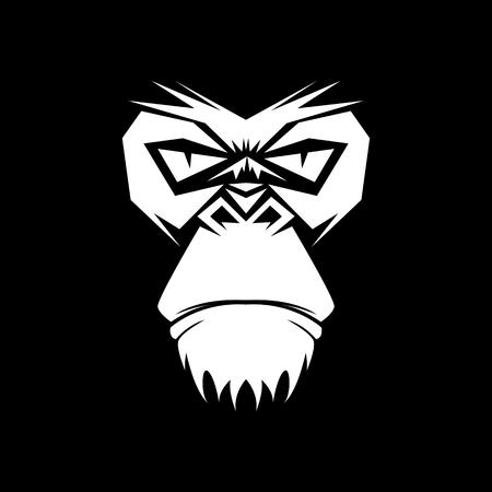 gorilla head vector illustration for sport business logo
