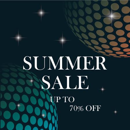 summer sale vector background for business ,design banner