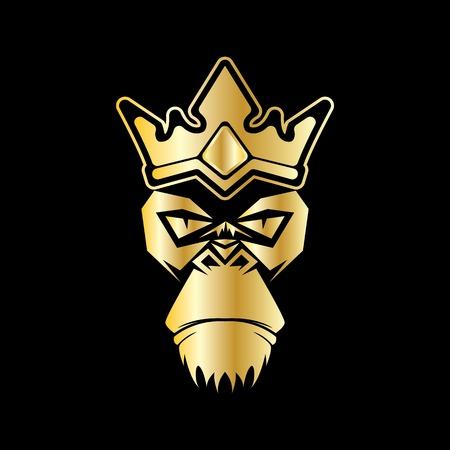 gorilla head vector logo for sport symbol