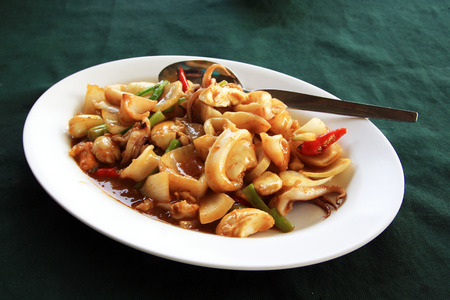 paste: squid fried with chili paste