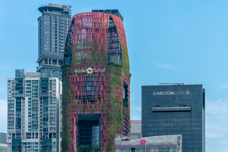 A verdant tower of green in the heart of Singapore's dense Central Business District (CBD), Oasia Hotel Downtown is a prototype of land use intensification for the urban tropics.