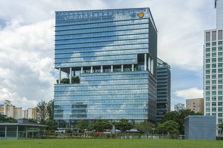 Singapore  - May 25, 2018: Shell office building at Buona Vista, Singapore