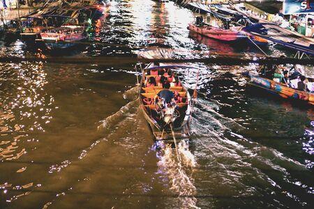 Life on the river Amphawa Thailand.
