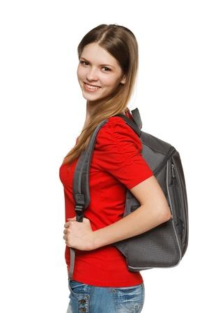Female university student isolated on white background Stock Photo - 15126728