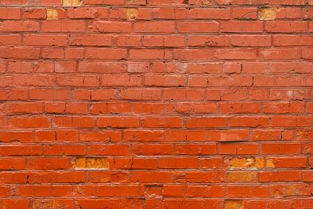 Old red brick wall background, wet at the bottom Stock Photo - 19239238