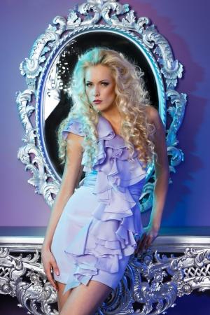 Portrait of fashion model posing in glamorous interior Stock Photo - 24867596