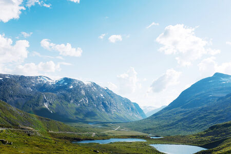 jotunheimen national park: Lakes on the top of mountains, in Jotunheimen national park, Norway