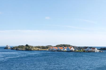Typical Norwegian houses on the Vikaholmane island, Skudeneshavn