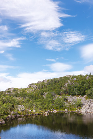windless: Small mountain lake in mountains, Norway