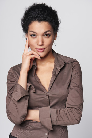 Portrait of african american business woman looking confident